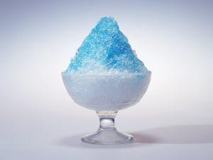 ハワイアンブルーのかき氷
