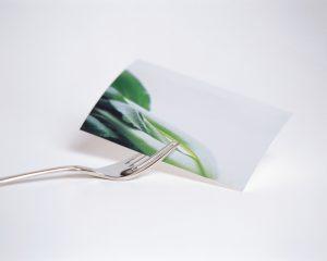 野菜の写真とフォーク