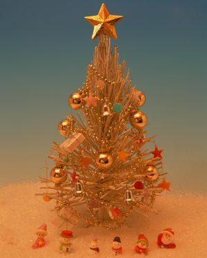 星付きクリスマスツリー