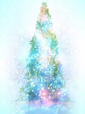 幻想的クリスマスツリー