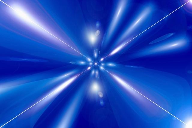 ブルーな光