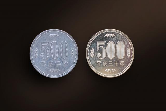 500円玉2種類